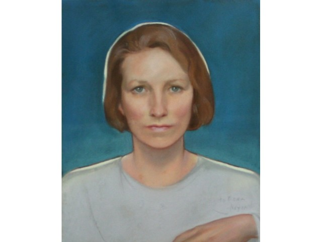 Edna St Vincent Millay pastel portrait after paper conservation treatment services performed by professional conservator Gwen Spicer of Spicer Art Conservation, LLC in upstate New York