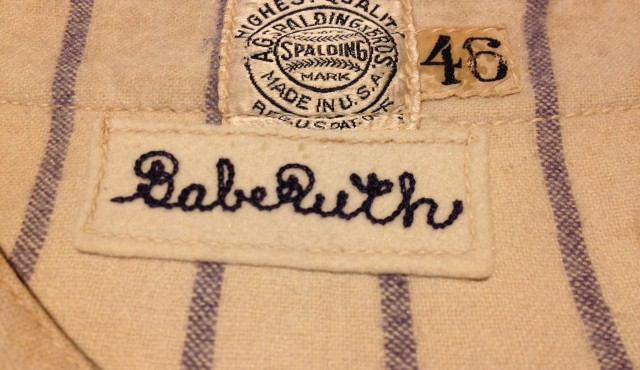 Restoration and repair of Babe Ruth's jersey. Textile conservation, repair, baseball memorabilia