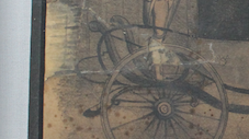 after conservation preservation repair treatment of antique drawing. Antique paper conservation of clock part by conservator Gwen Spicer