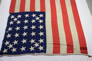 Historic battle flag, Civil War flag repair, preservation, conservation, framing, pressure mount, textile expert, conservation by professional conservator