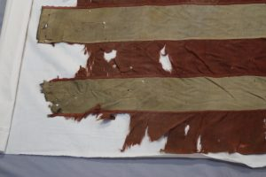 Civil War battle flag conservation, textile preservation, repair,