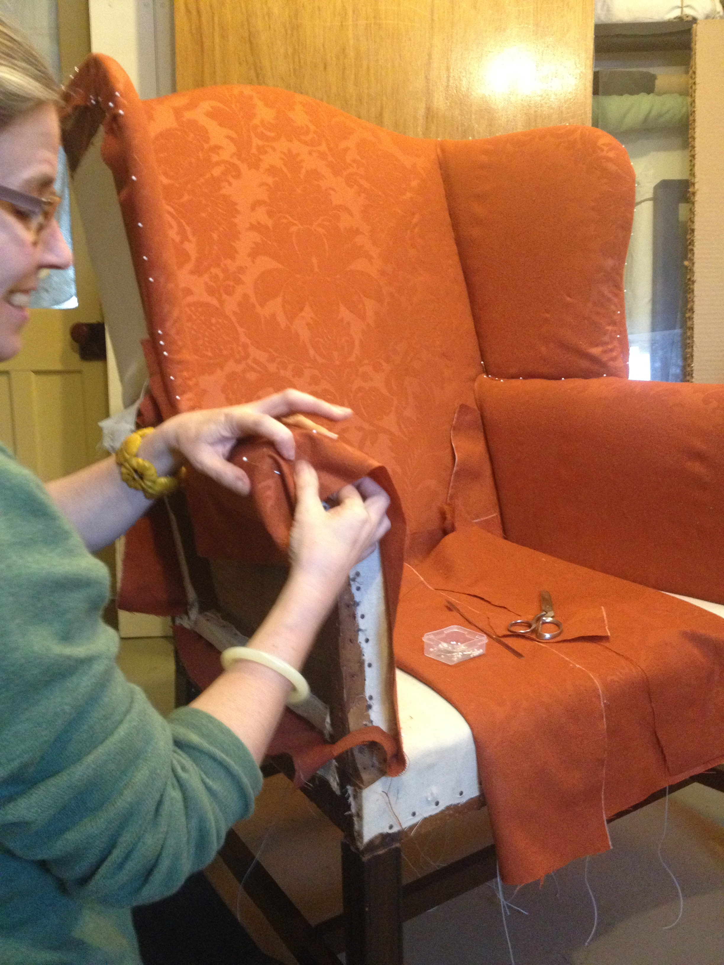 Gwen Spicer of Spicer Art Conservation is a textile conservator and expert in the care of archeological, historic and antique textiles.