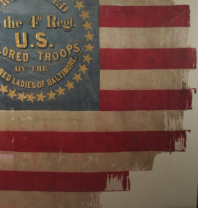 Historic Flag conservation, restoration, repair, civil war, textile conservator, silk, USCT