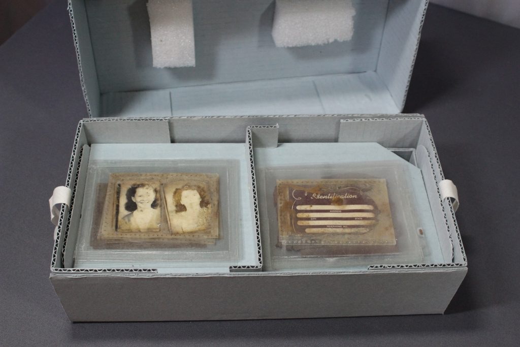 custom made archival box created by art conservator for collection storage