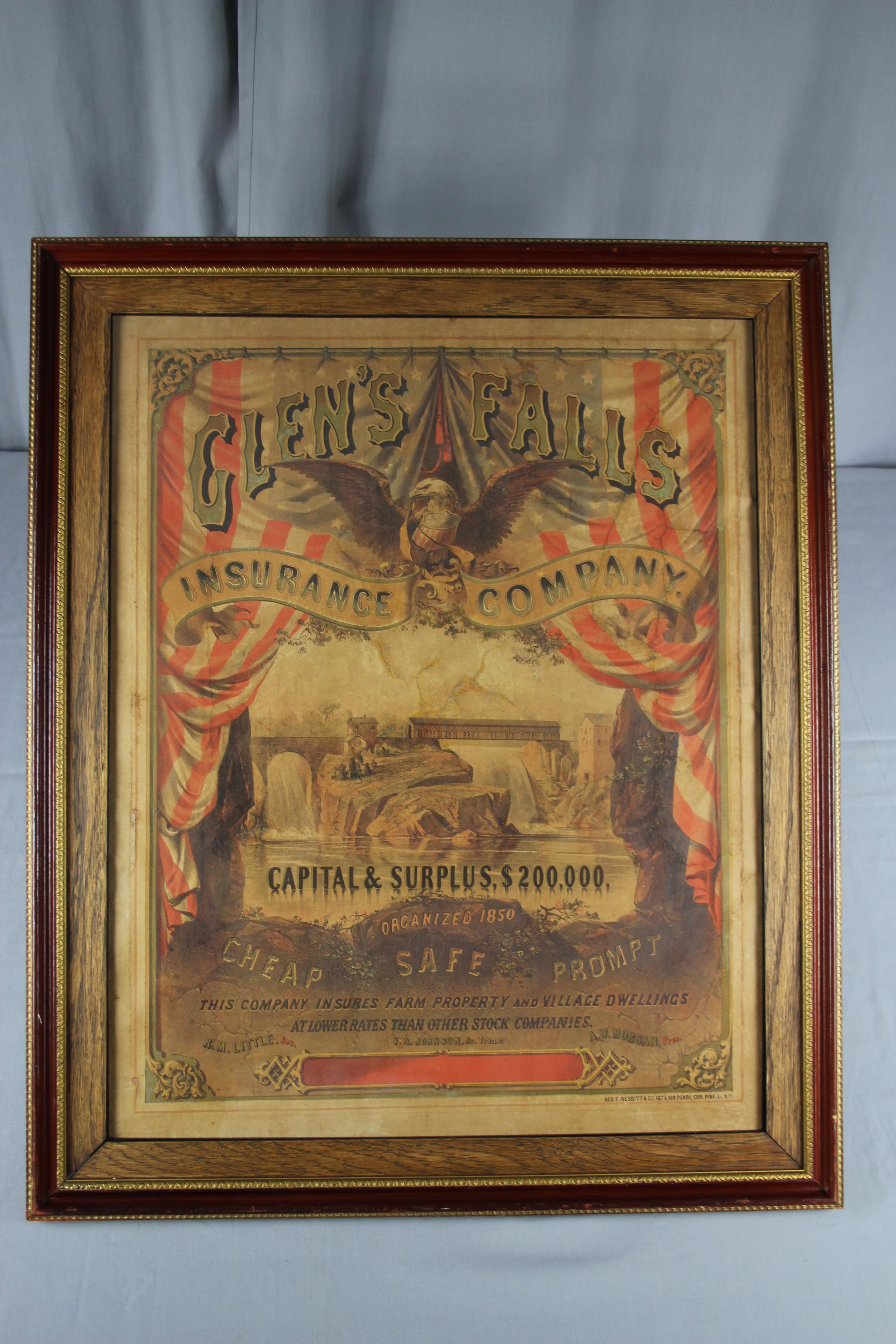 Paper Conservation, art conservation, professional conservator, 19th century lithograph, after treatment photo, antique poster, vintage poster repair, restore, preserve, preservation, restoration.